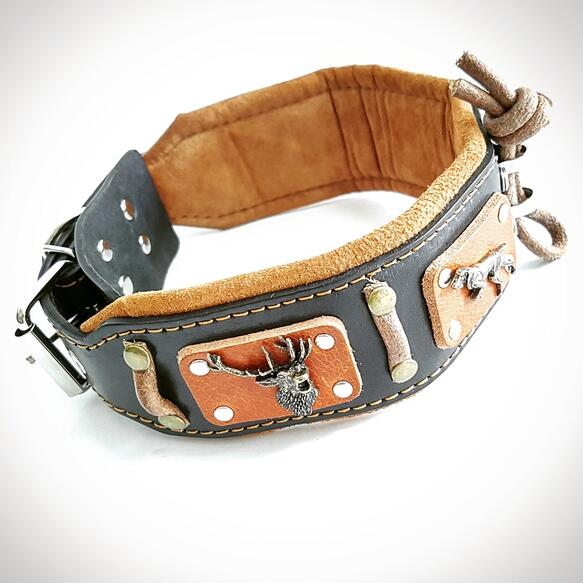 Bestia big dog leather collar