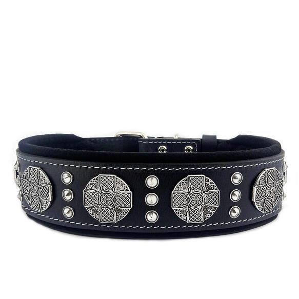 Maximus Silver big dog collar