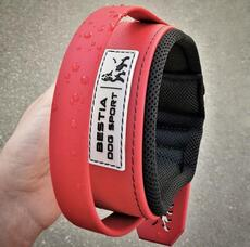 BESTIA DOG SPORT HANDLE COLLAR ALL RED