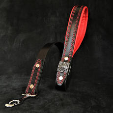 The Eros leash black and red
