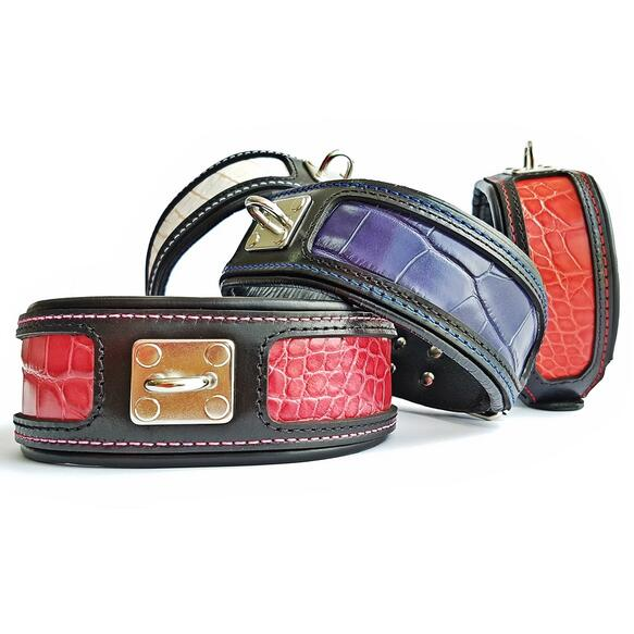 genuine leather dog collars 1