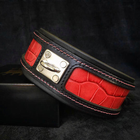 Reptile collar in red