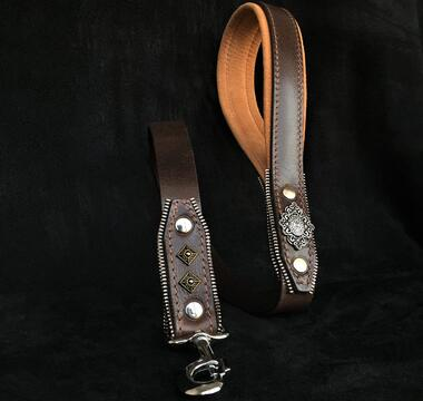 The Aztec leash brown