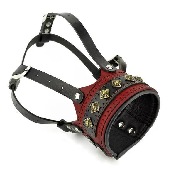 The ''Balteus'' dog muzzle RED