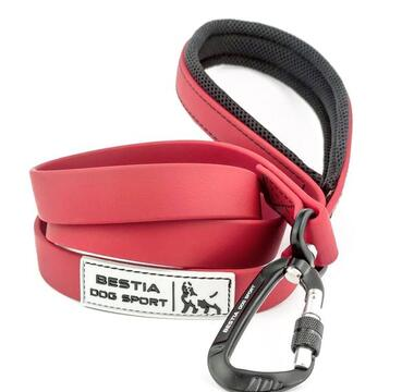 BESTIA DOG SPORT TACTICAL LEASH RED & BLACK