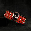 Star collar leather handmade red