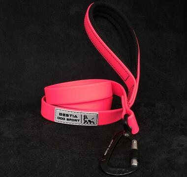 PRE-ORDER BESTIA DOG SPORT TACTICAL LEASH NEON PINK