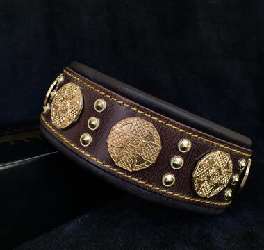 Maximus Brown dog collar